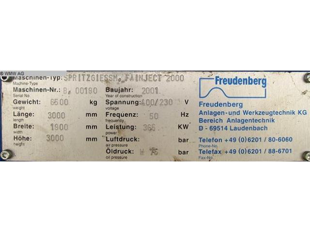 FREUDENBERG Spritzgiessmaschine - Sondermaschine FAINJECT 2000 - 5