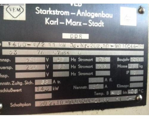 WMW (KARL-MARX-STADT) Fräsmaschine - Vertikal FSS400 V/2 - Bild 5
