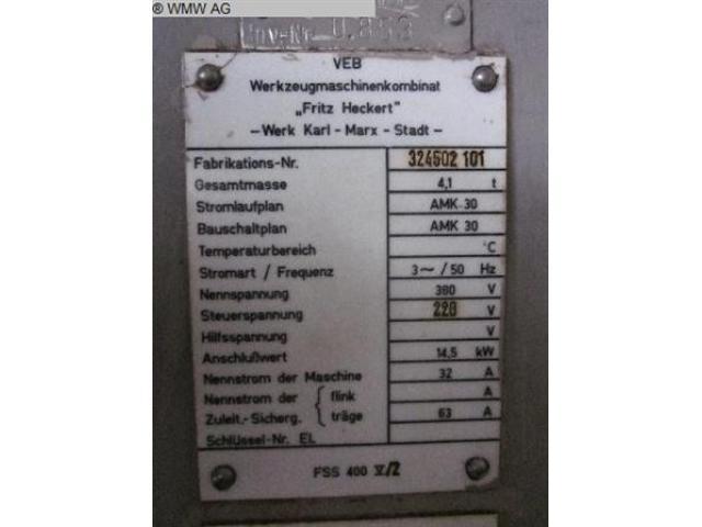 WMW (KARL-MARX-STADT) Fräsmaschine - Vertikal FSS400 V/2 - 6