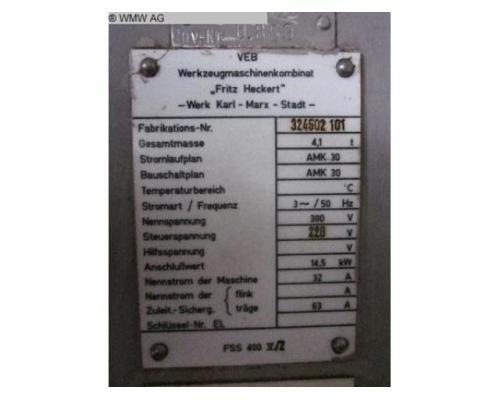 WMW (KARL-MARX-STADT) Fräsmaschine - Vertikal FSS400 V/2 - Bild 6