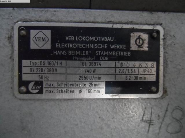 VEM Doppelschleifbock DS 160/1H - 5