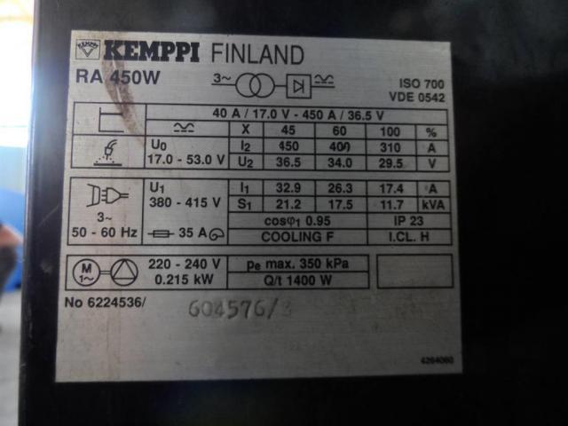 KEMPPI Schweißanlage RA 450 W - 3