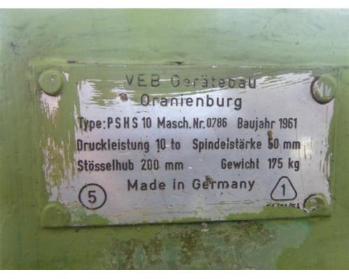 VEB Gerätebau Oranienburg Handspindelpresse PSHS 10 - Bild 5