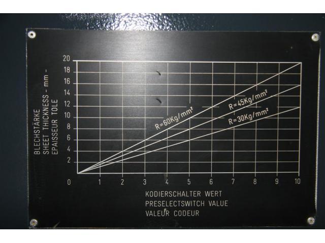 Beyeler Tafelschere - hydraulisch 4100 x 16 - 6
