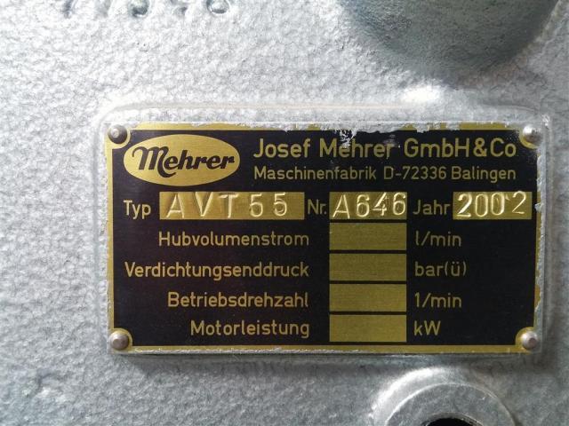 Mehrer Kolbenkompressor AVT55 - 2.2-350 HM - 5