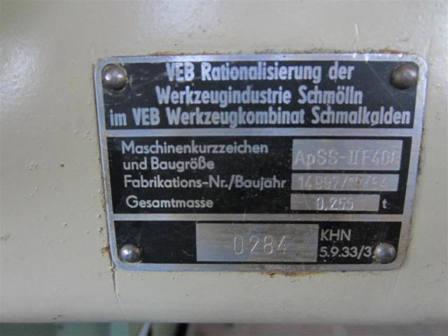WMW Schmölln Vertikal-Fräskopf ApSS-II F400 (FSS 400) - 5