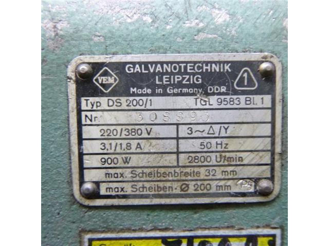 WMW Galvanotechnik Doppelschleifbock DS 200/1 - 6