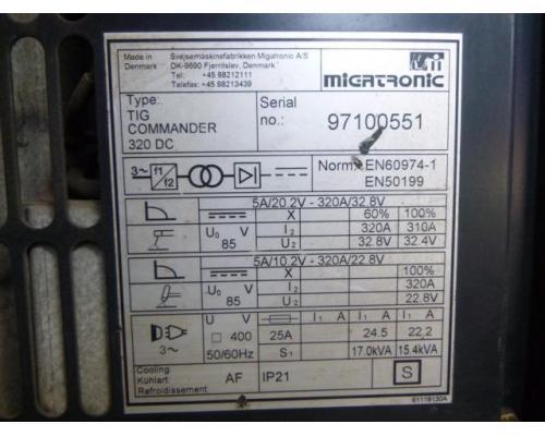 Migatronic Schweißanlage TIG Commander 320 DC - Bild 3