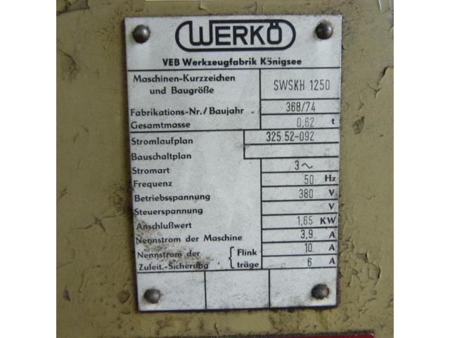 VEB WERKÖ Sägeblattschärfmaschine SWSKH 1250 - 2