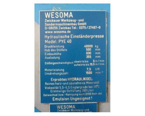 WMW ZEULENRODA Einständerpresse - Hydraulisch PYE 40N - Bild 5