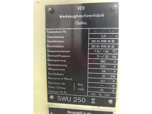 WMW GOTHA Werkzeugschleifmaschine SWU 250 II - 5