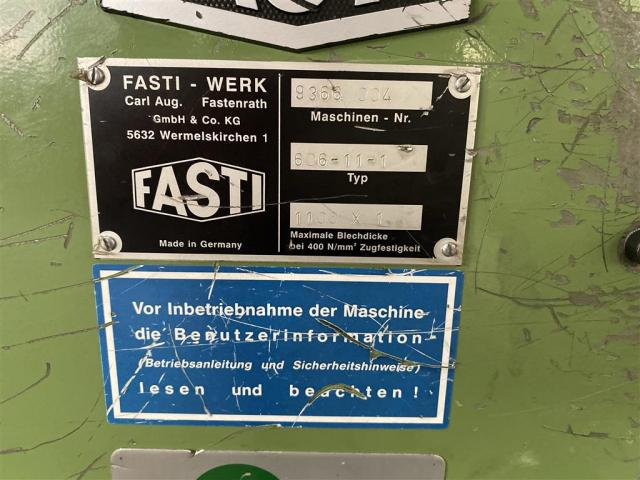 Fasti Längsnahtfalzmaschine 606-11-1 / 1100 x 1 - 3