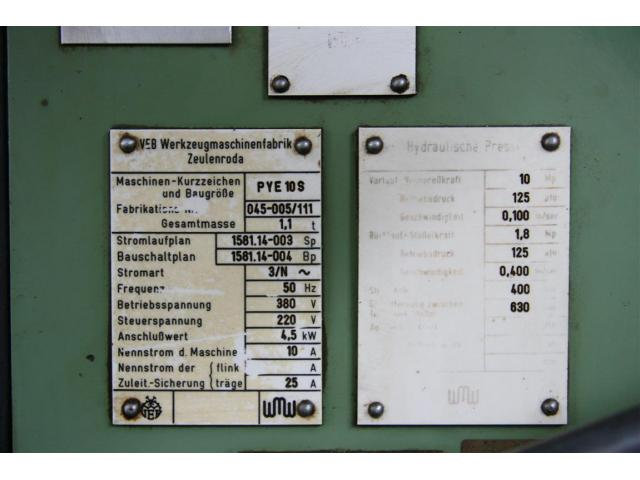 WMW ZEULENRODA Einständerpresse - Hydraulisch PYE 10 S - 6