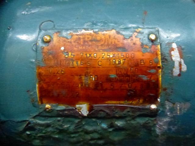 Motor Flanschmotor 85-71x025x1500 3~ 380V 0,25 KW 1380 U - 3