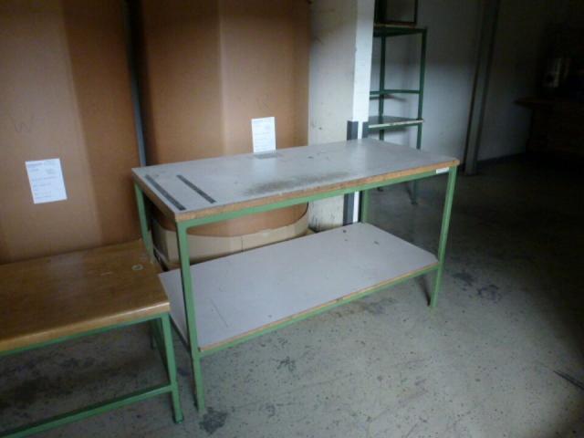 Montagetisch Arbeitstisch Werkbank 150x70x80 cm mit.40mm Platte - 1