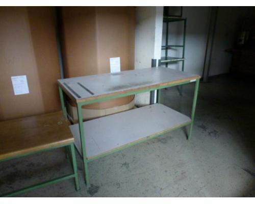 Montagetisch Arbeitstisch Werkbank 150x70x80 cm mit.40mm Platte - Bild 1