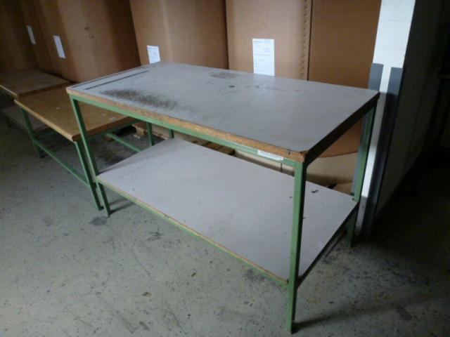 Montagetisch Arbeitstisch Werkbank 150x70x80 cm mit.40mm Platte - 2