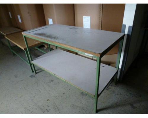 Montagetisch Arbeitstisch Werkbank 150x70x80 cm mit.40mm Platte - Bild 2