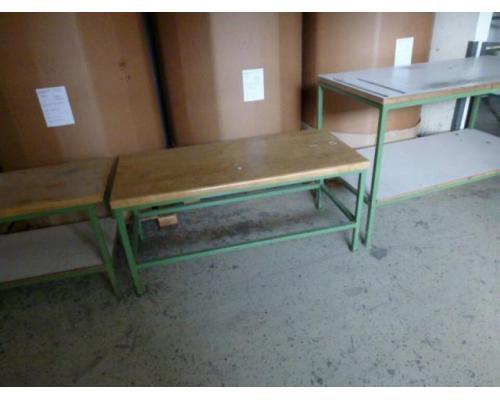 Montagetisch Arbeitstisch Werkbank 150x70x80 cm mit.40mm Platte - Bild 3