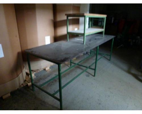 Montagetisch Arbeitstisch Werkbank 150x70x80 cm mit.40mm Platte - Bild 4