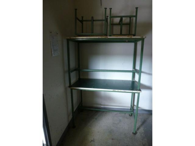 Montagetisch Arbeitstisch Werkbank 150x70x80 cm mit.40mm Platte - 5