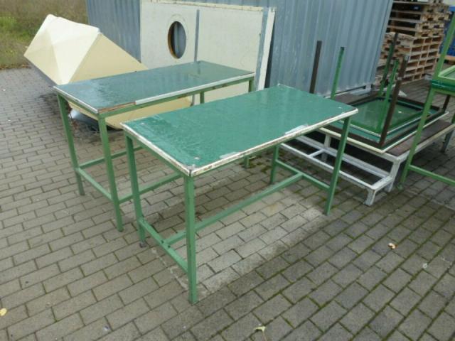 Montagetisch Arbeitstisch Werkbank 150x70x80 cm mit.40mm Platte - 6
