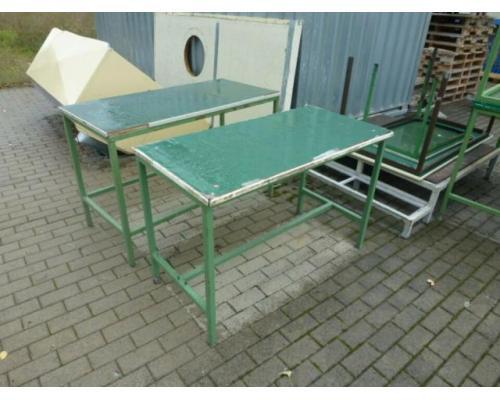 Montagetisch Arbeitstisch Werkbank 150x70x80 cm mit.40mm Platte - Bild 6