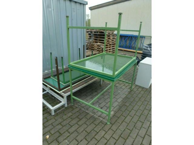 Montagetisch Arbeitstisch Werkbank 150x70x80 cm mit.40mm Platte - 7
