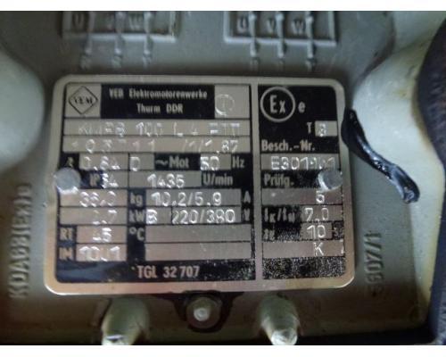 Flanschmotor ZSE Praha 3~ 4AP90S-4 380/220V 1,1KW 1141U - Bild 7