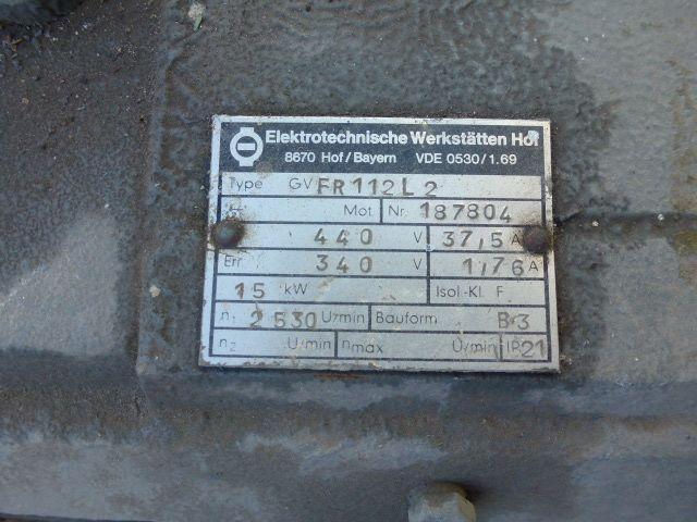 Gleichstrommotor Werkstätten Hof 7,75kW 440V- 3100U Lüfter fehlt - 7