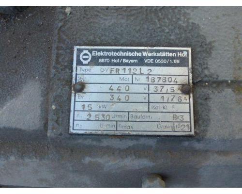 Gleichstrommotor Werkstätten Hof 7,75kW 440V- 3100U Lüfter fehlt - Bild 7