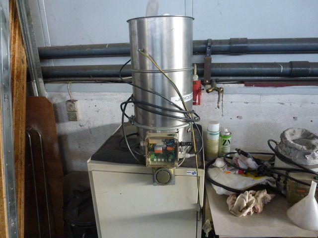 3 x Trocknungstrichter Digicolor ST150 auf einem Gestell m.5 Räder - 5