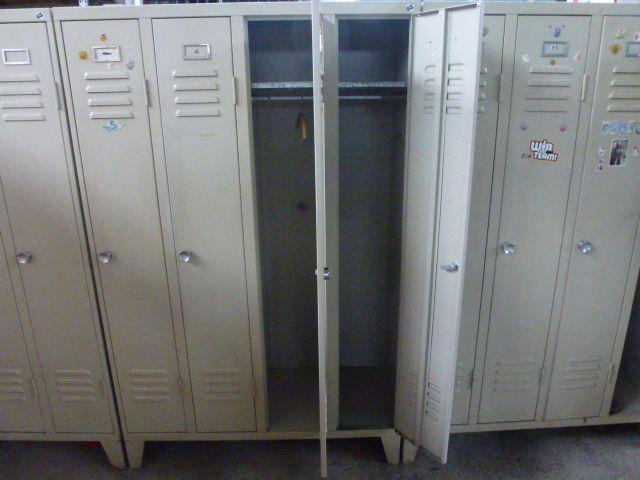 6 Spinde mit 4 Abteilen 120x50x185 cm Braungrau - 2