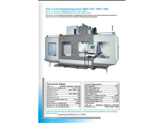 Bearbeitungszentrum WMC 2150 - 3