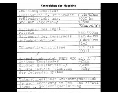 Einflankenwalzprüfmaschine Klingenberg PSKE 900 BJ 1977 - Bild 6