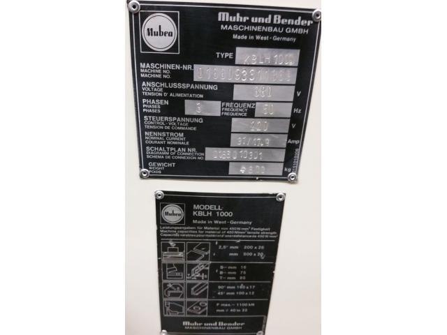 Mubea KBLH 1000  Profilstahlschere - 9