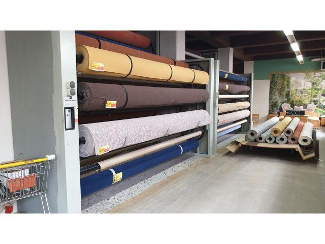 Paternoster Umlaufregal Teppich Rollen / Rasen / Folie Lagerung - 3