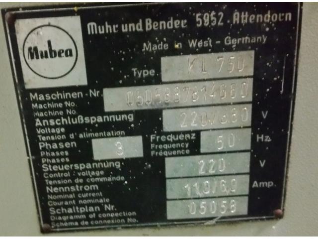 Mubea KL 750 Lochstanze - 4
