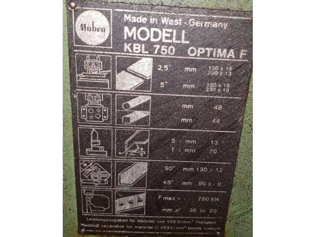 Mubea KBL 750 Profilstahlschere - 3