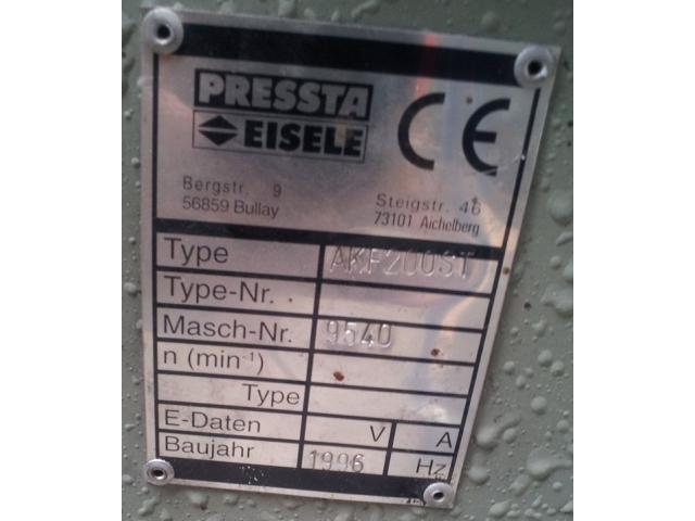 Pressta Eisele AKF 200 ST - 3