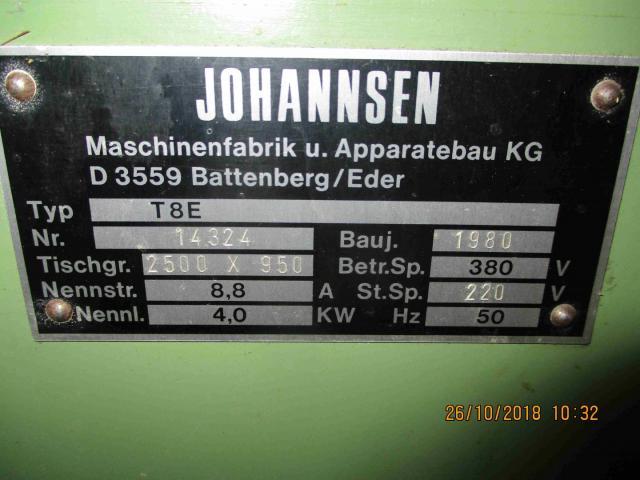 Langbandschleifer Johannsen T 8 E T 8 E - 1